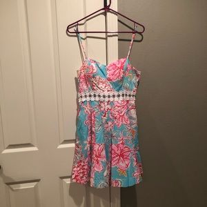 Vibrant Lilly Pulitzer flower dress